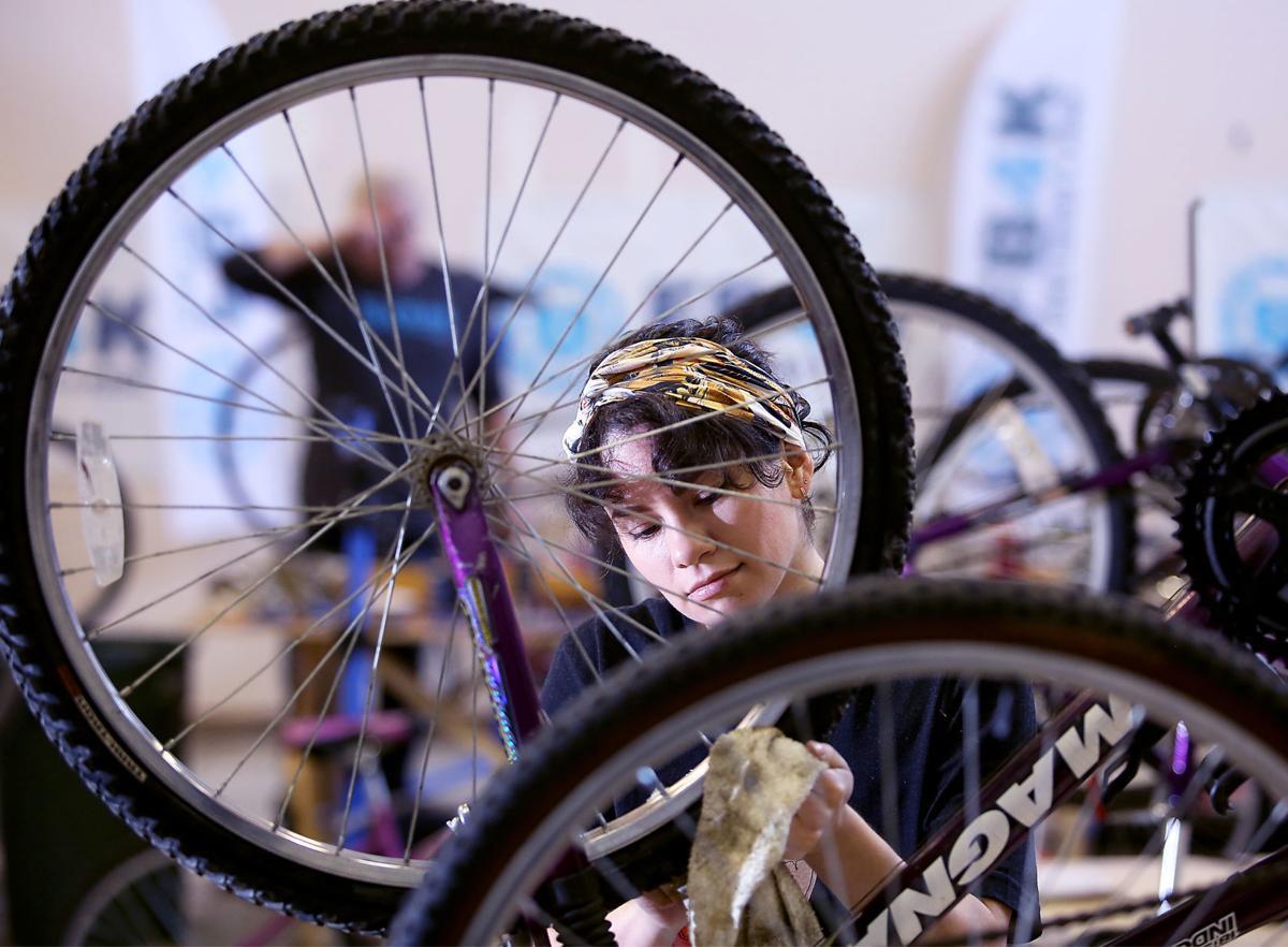 Janelle Bentley with Free Bikes 4 Kidz Madison