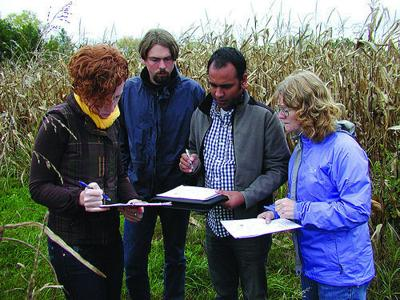 Morton and collegues in cornfield (copy)
