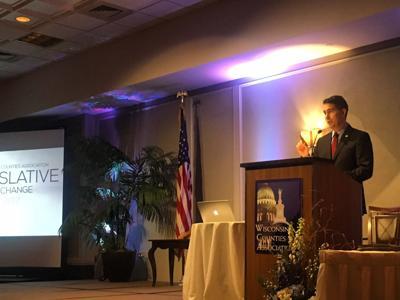 Scott Walker speaks to Wisconsin Counties Association