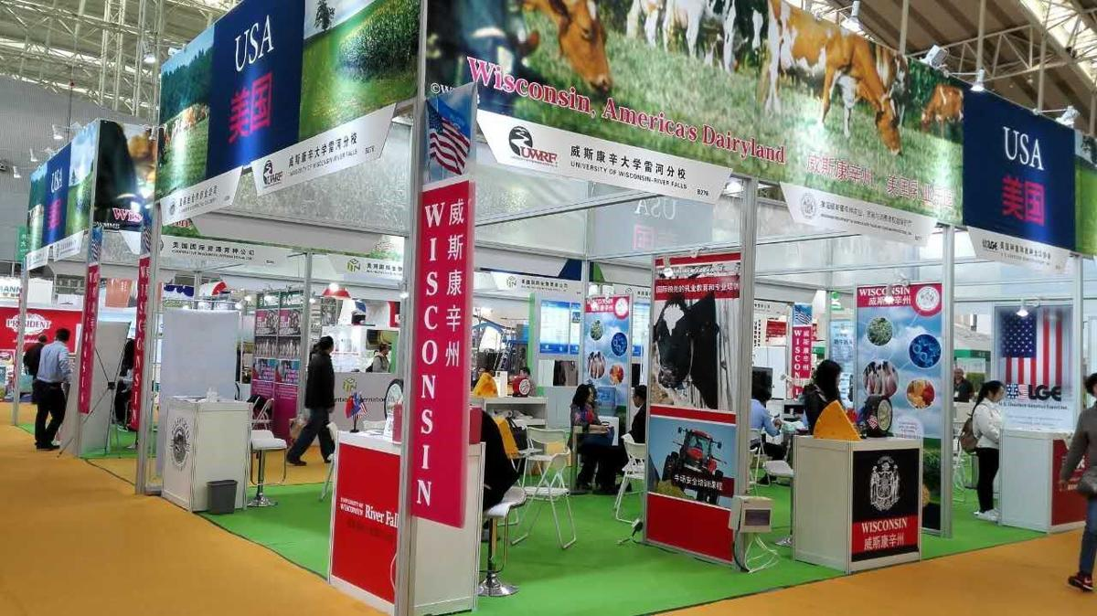 Wisconsin pavilion at China dairy expo