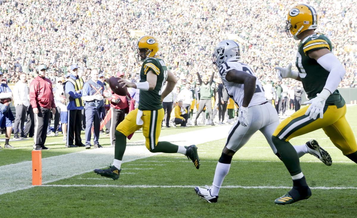 Aaron Rodgers -Packers vs. Raiders