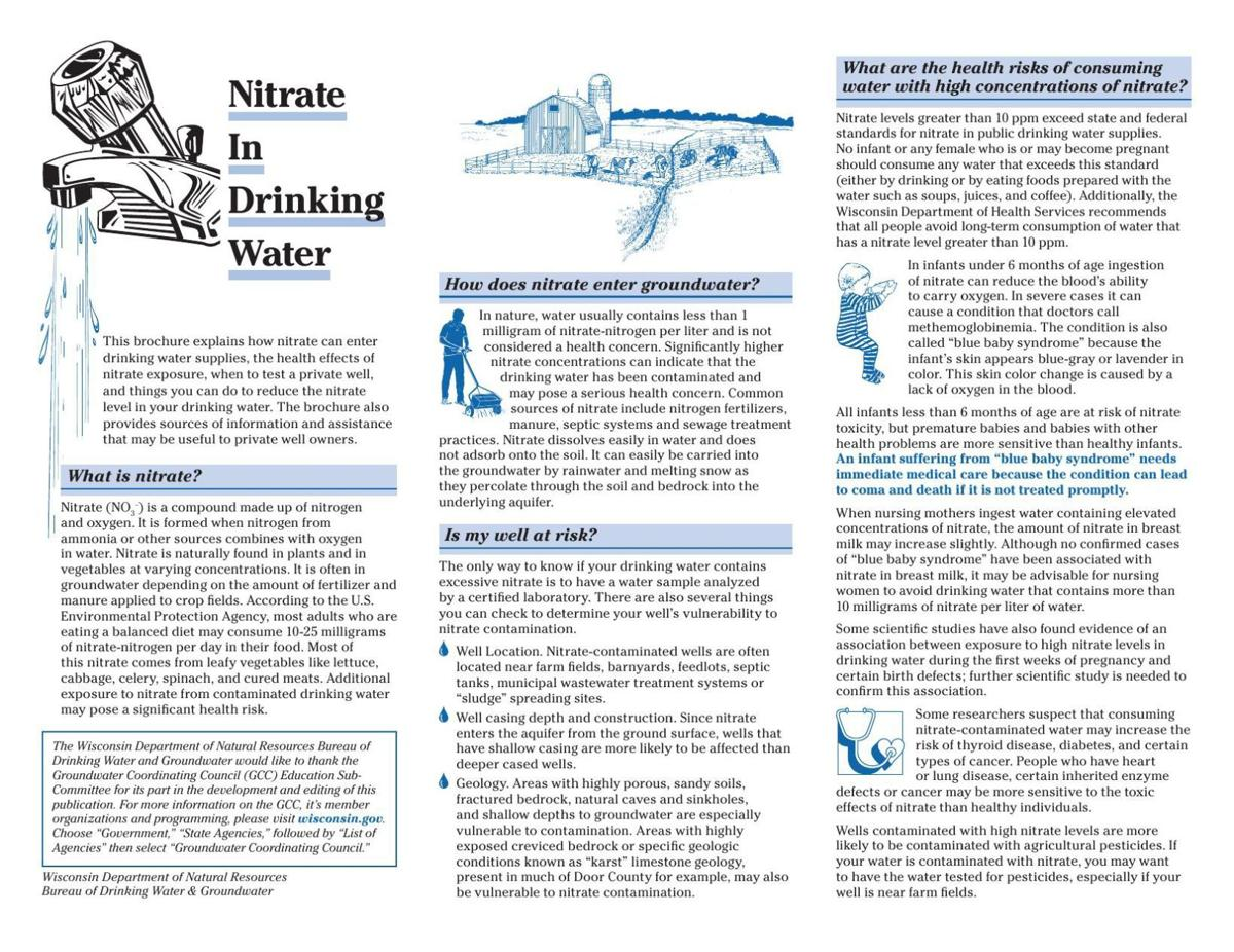 Facts about nitrate contamination of drinking water