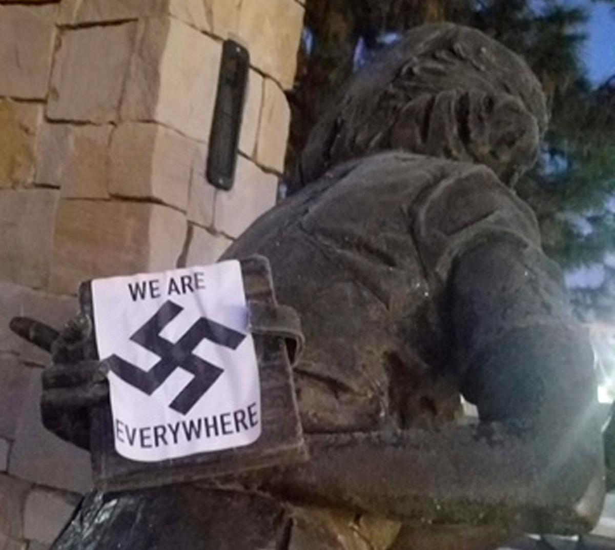 Memorial defaced