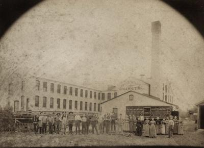 Whiting Paper Mills in 1880