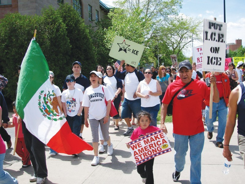Immigration rally (5-1-10)