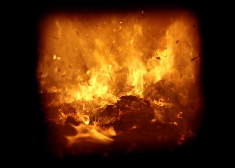 Cassville wood biomass power plant, burning wood