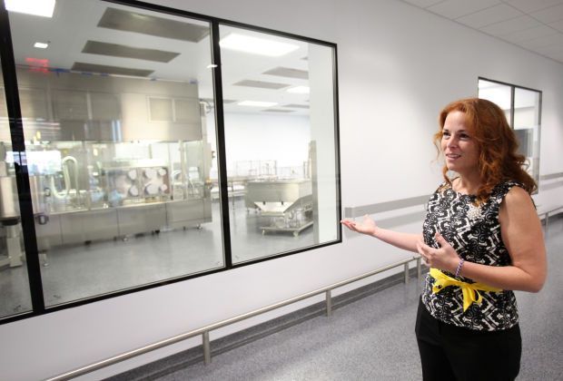 Promega shows off its new manufacturing building.