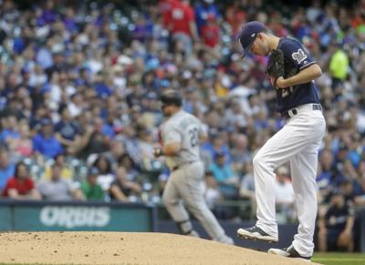 Zach Davies struggles again, Brewers fall to Mariners in series opener at Miller Park