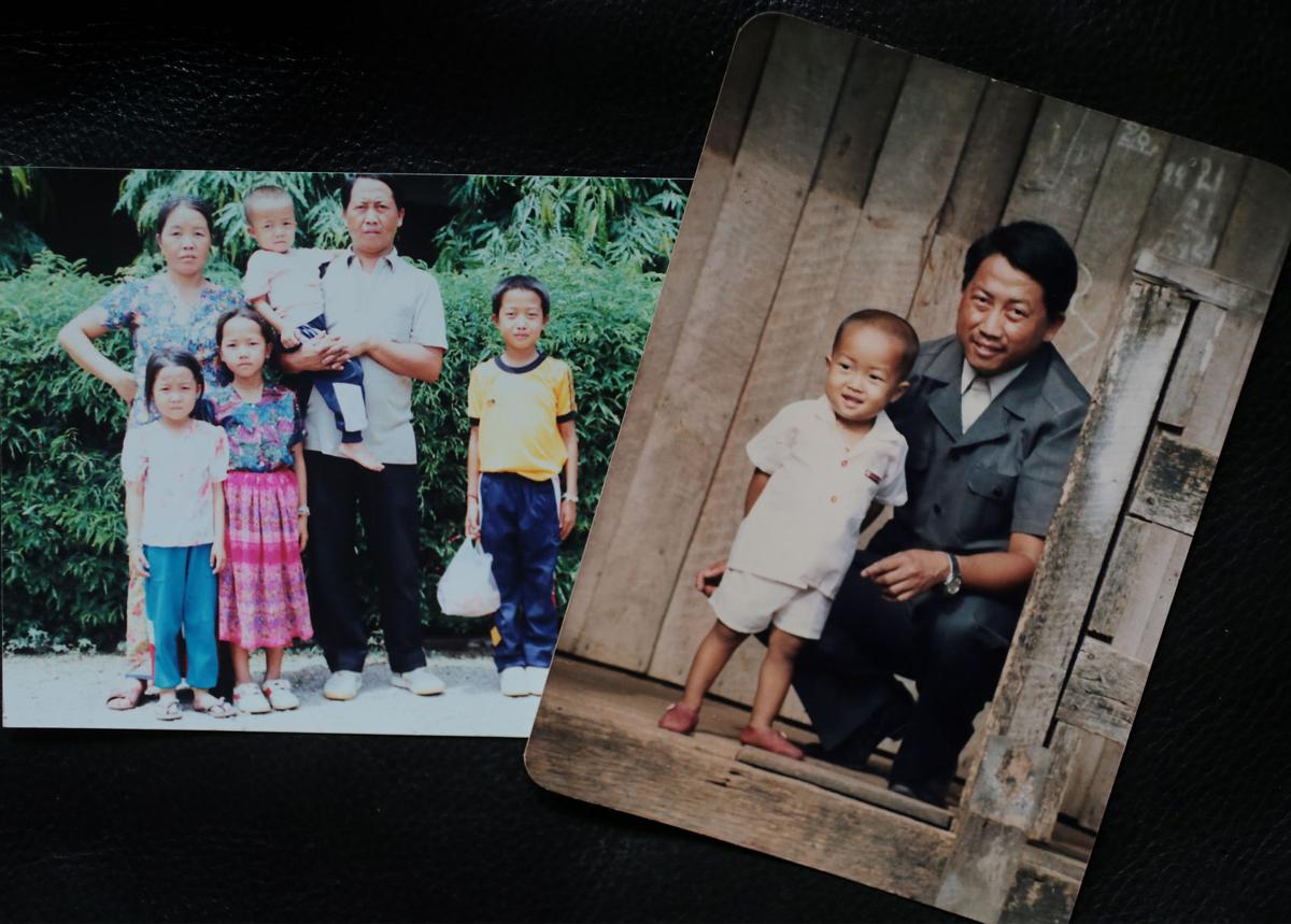 Her family photos from refugee camp