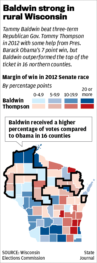 Baldwin rural vote map