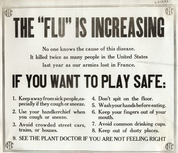 Poster warns of flu (copy)