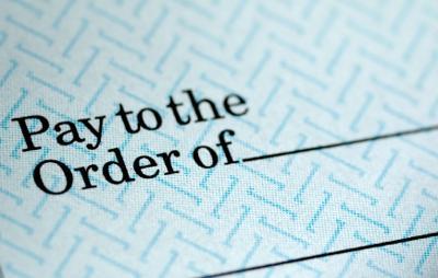 Generic paycheck istock photo