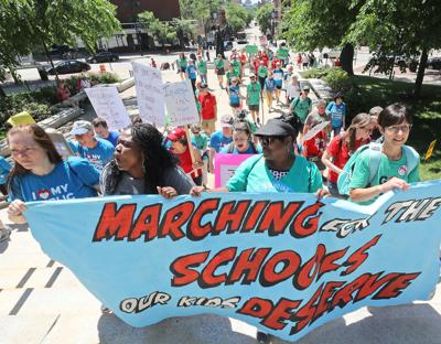 Educators rally for more funding in state budget