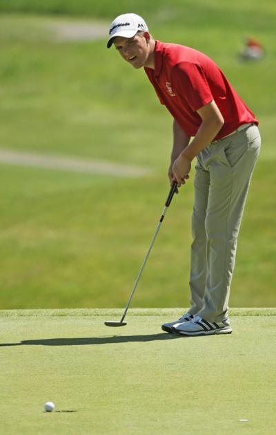 Prep boys golf photo: Madison Abundant Life co-op's Boomer Zierath