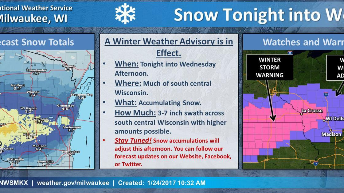 Winter storm Tuesday night into Wednesday could deliver