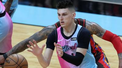 A key part of this offseason for Heat guard Tyler Herro is continuing to add weight to his 6- foot-5, 200- pound frame.