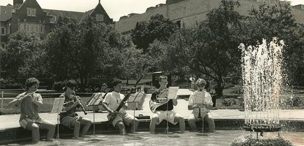 Library Mall_historic fountain