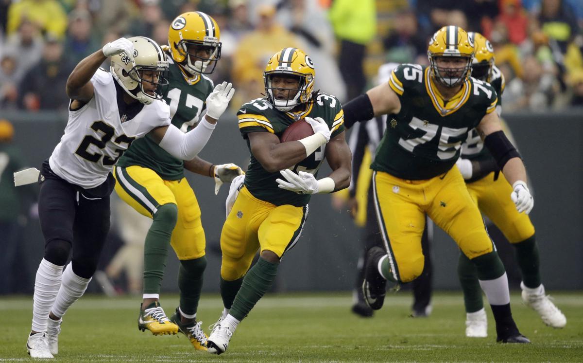 Aaron Jones - Packers vs. Saints