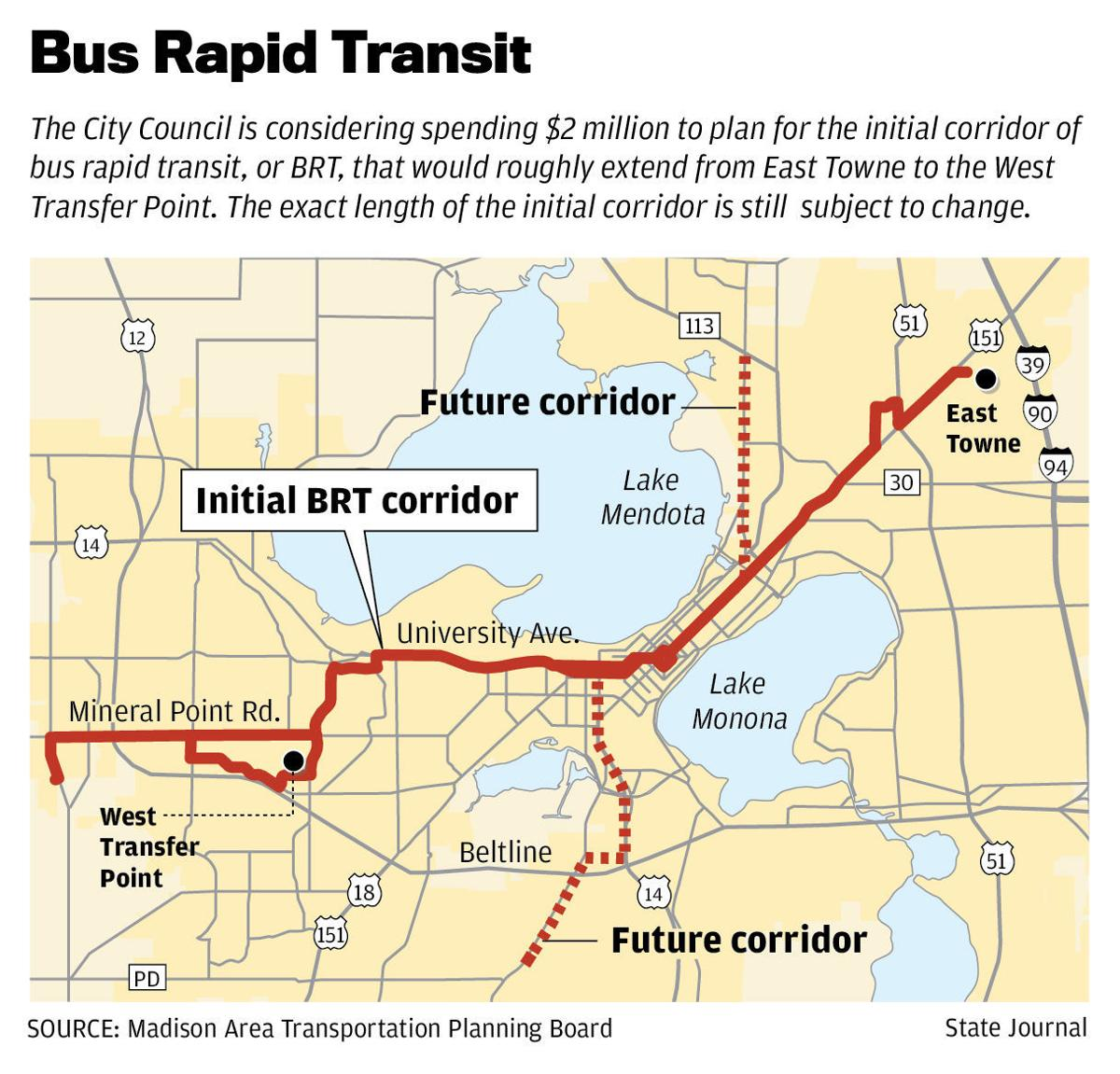 madison poised to pursue bus rapid transit | politics and elections