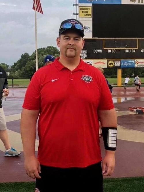 Prep football photo: New Evansville coach Garth Coats