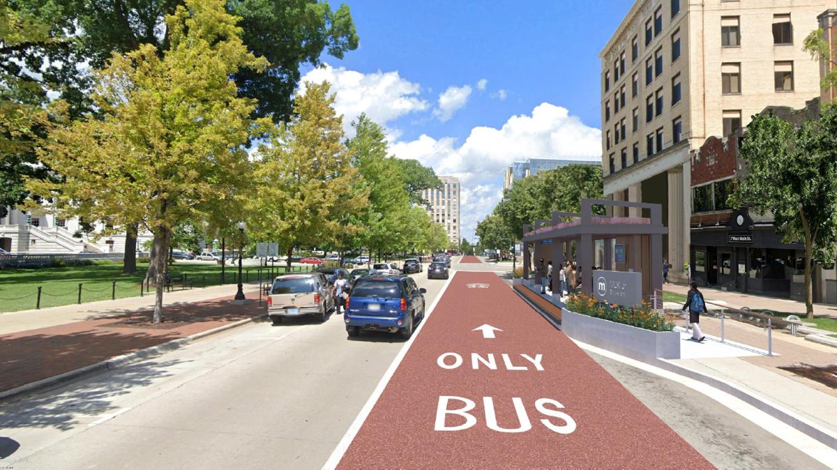 Capitol Square BRT design rendering