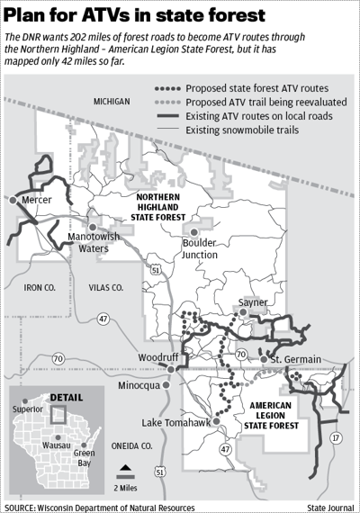 Proposed ATV routes map