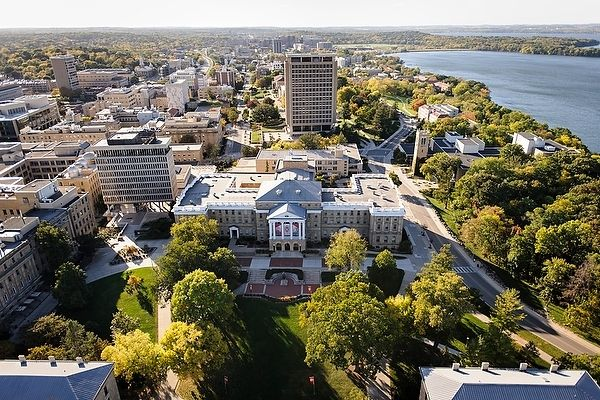 UW Madison aerial view file photo
