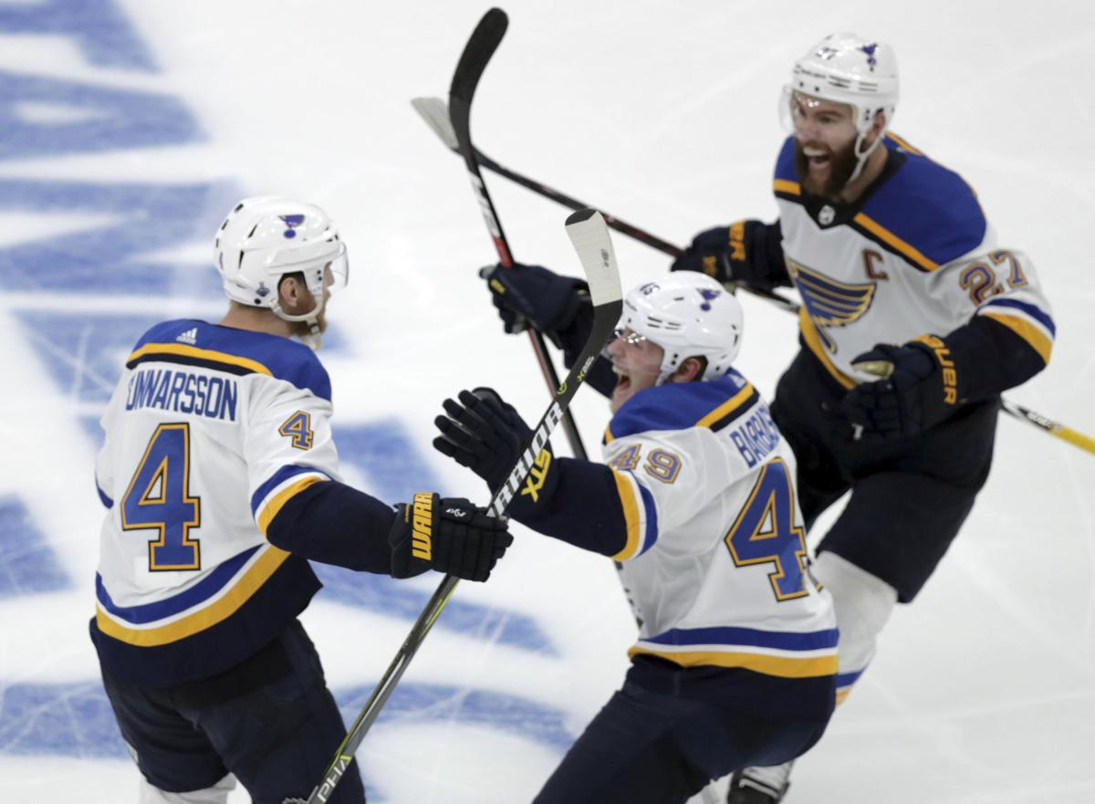 Carl Gunnarsson S Ot Goal For Blues Evens Stanley Cup Final At 1 1 Hockey Madison Com