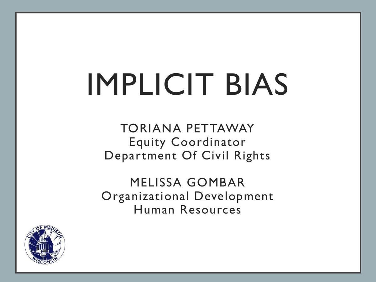 City of Madison implicit bias training materials