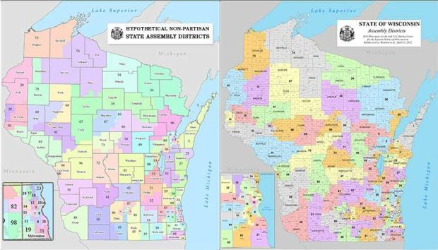 Wisconsin Assembly District Map Analysis: Nonpartisan district maps would have favored Democrats