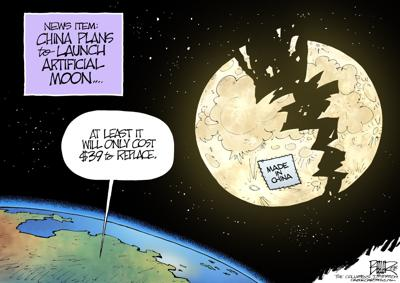 China moon will be inexpensive to replace, in Nate Beeler's