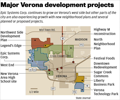 Verona developments map