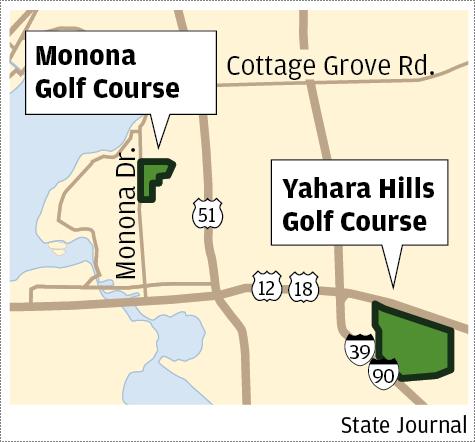 Yahara Hills Golf Course map