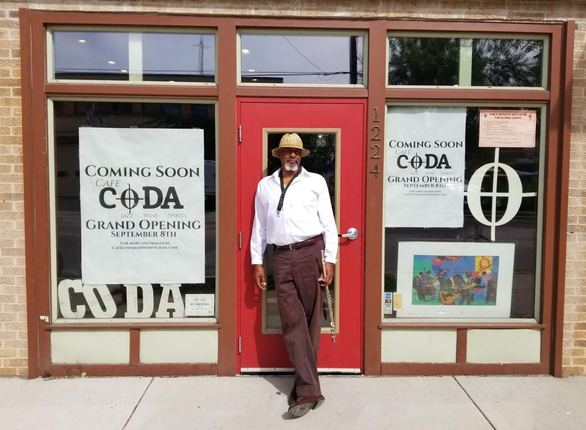 Cafe CODA owner Hanah Jon Taylor outside.