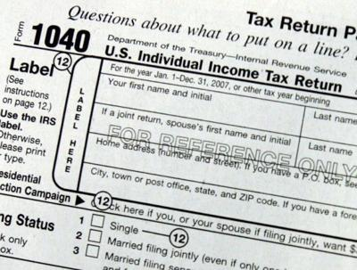 Income taxes, tax form