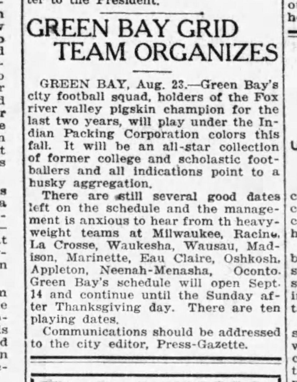 1919 team formation