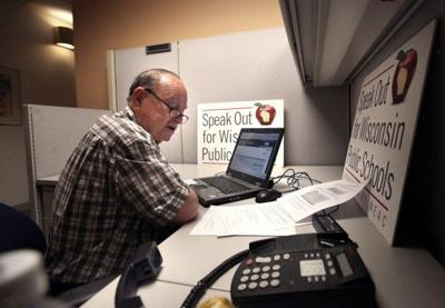 WEAC phone bank