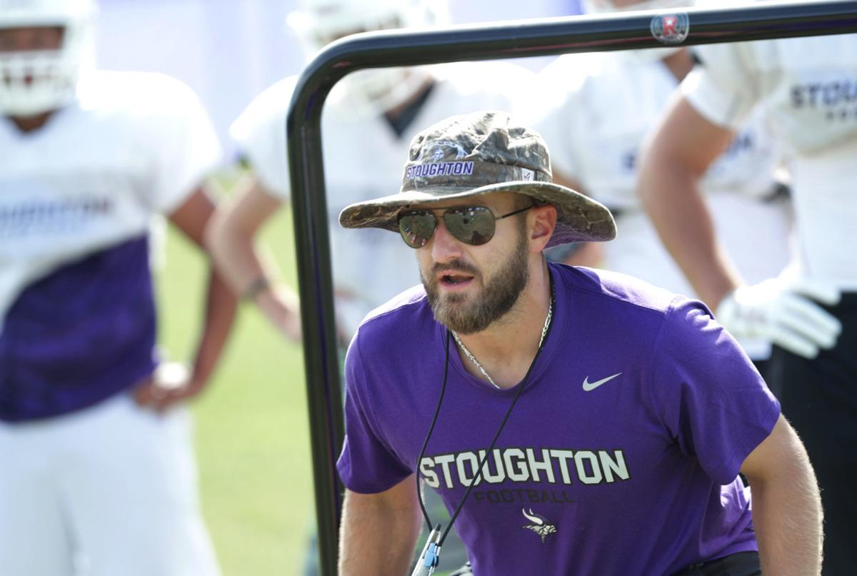 Prep football photo: Stoughton coach Dan Prahl