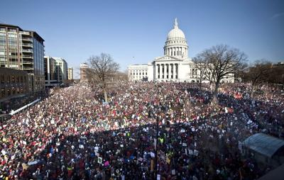 Largest protest crowd