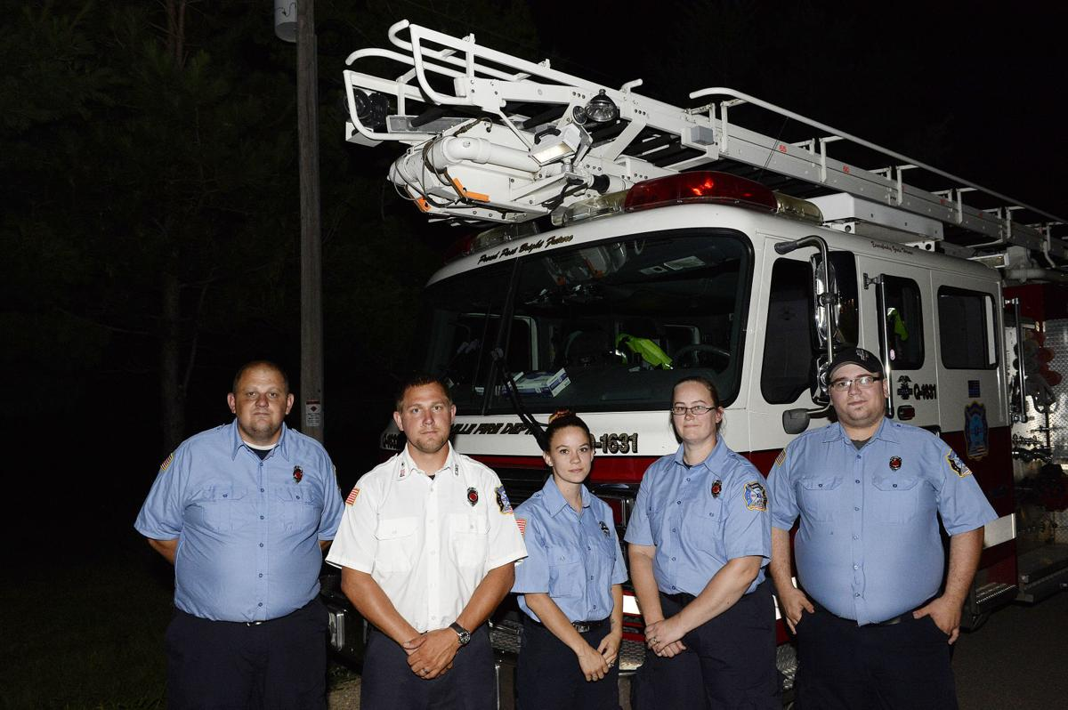 Cory Barr processional, Footville firefighters