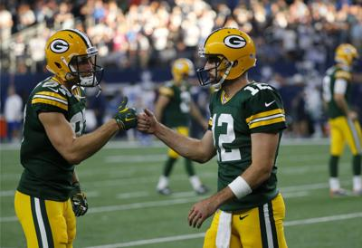 Packers  Aaron Rodgers revels in entire first-team offense ... 04118ada4