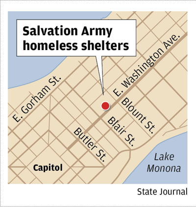 Salvation Army homeless shelters