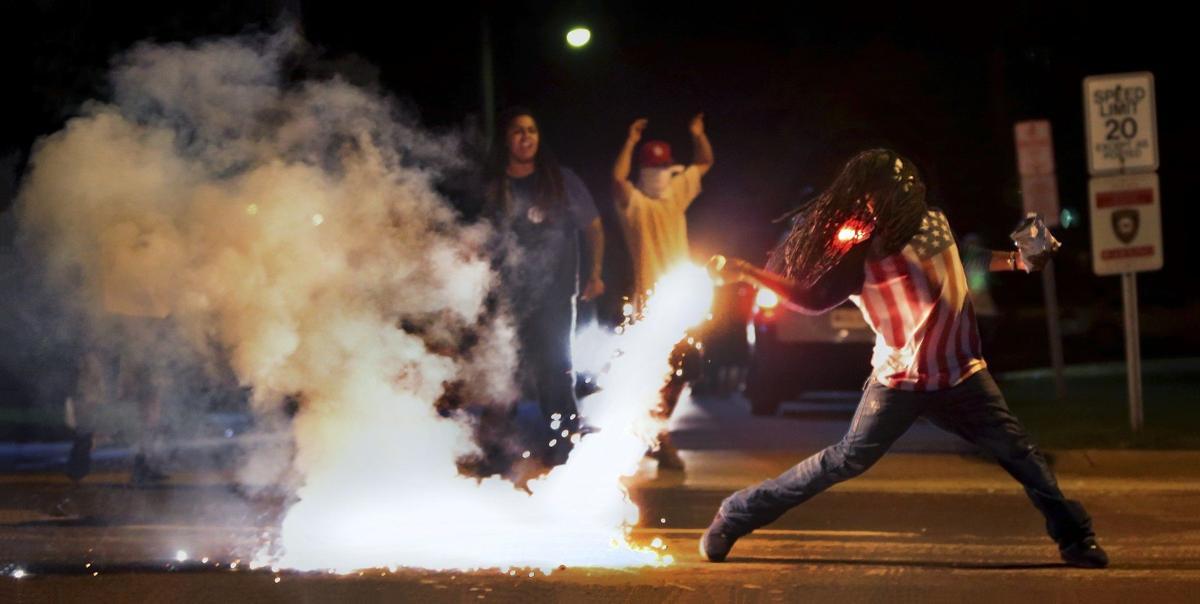 Edward Crawford at Ferguson protests