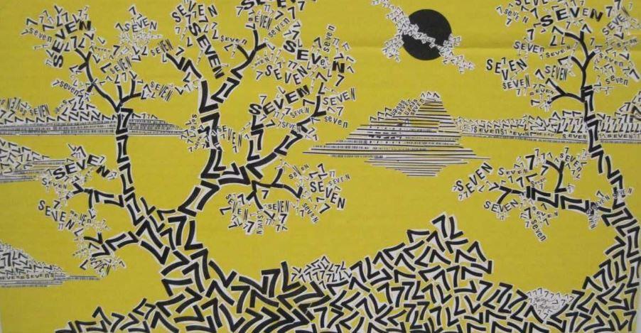 Sevens on Yellow, Karen Loper