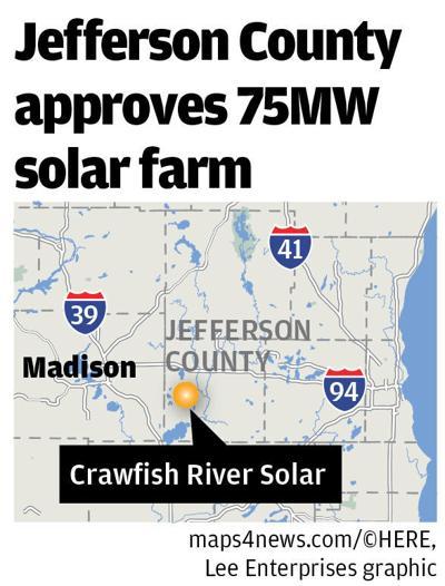 Crawfish River Solar map