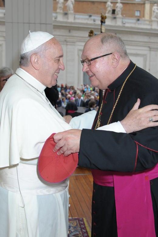 Bishop Robert Morlino and Pope Francis