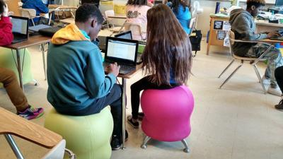 No More Chairs Dane County Teachers Turn To Bike Pedal Desks And