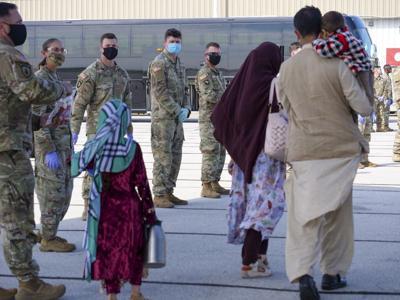 Afghans arrive