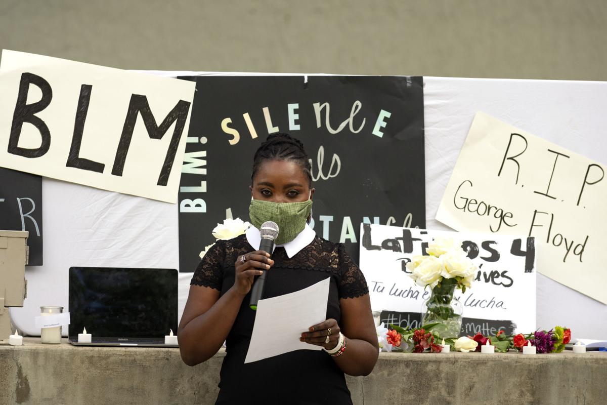 A vigil for George Floyd and others