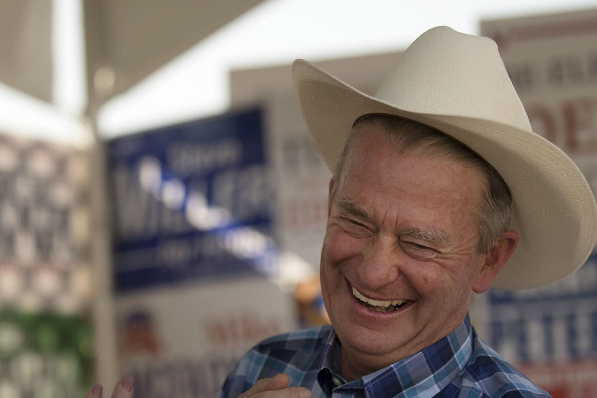 Lieutenant Governor Brad Little at the fair